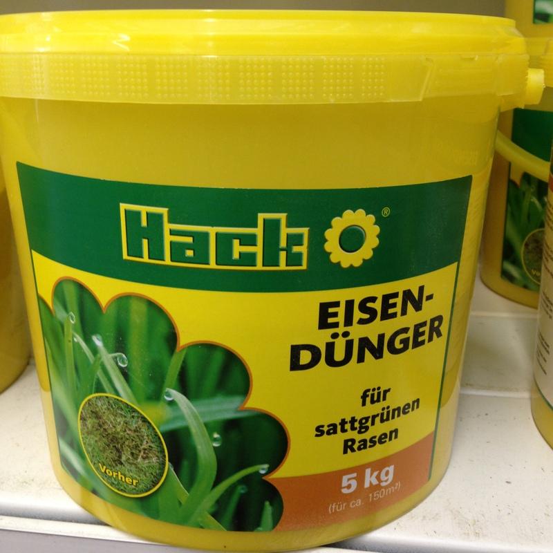 Rasendünger Eisendünger