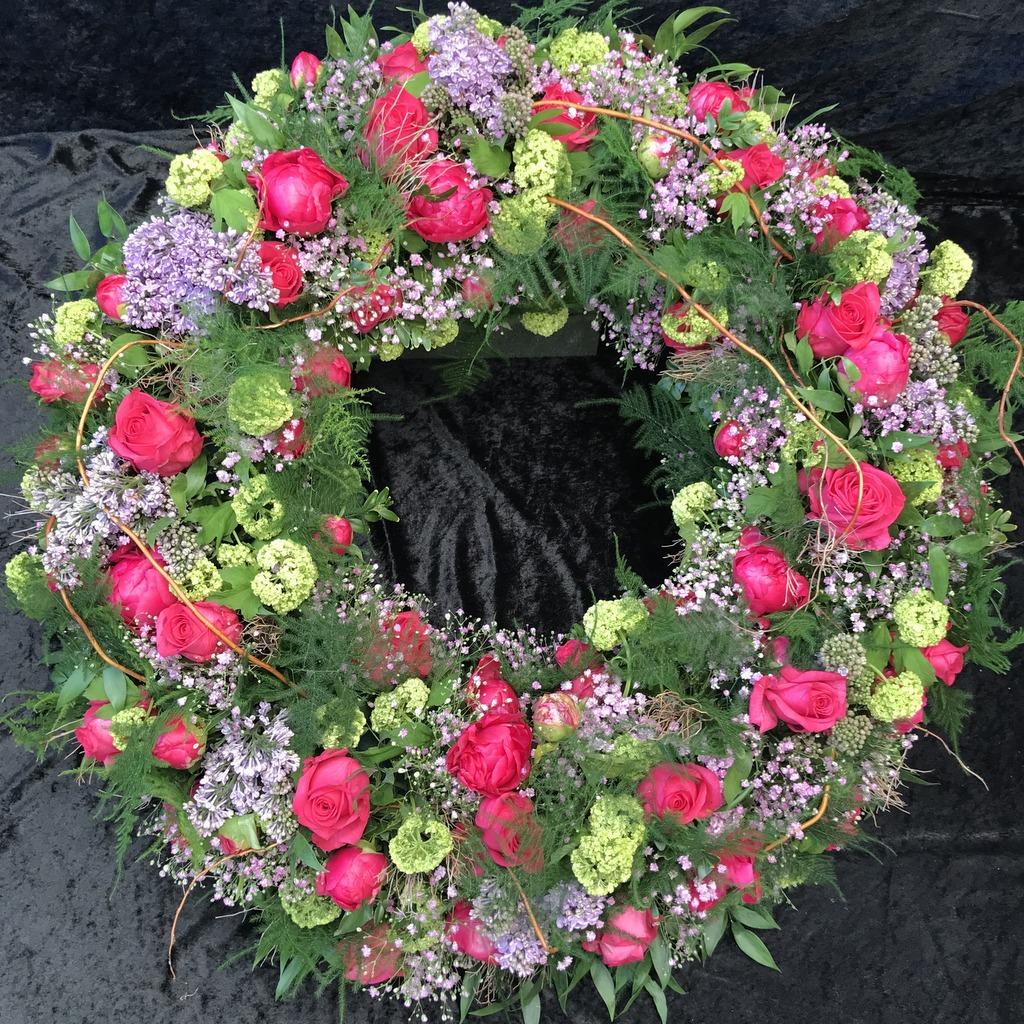 Blumenparadies Hasselt Trauerkranz bunt