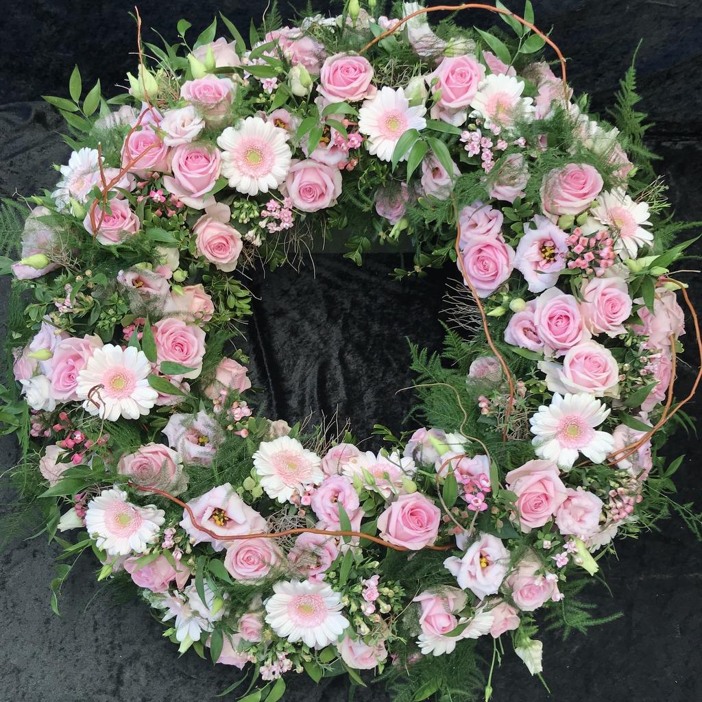Blumenparadies Hasselt Trauerkranz rose