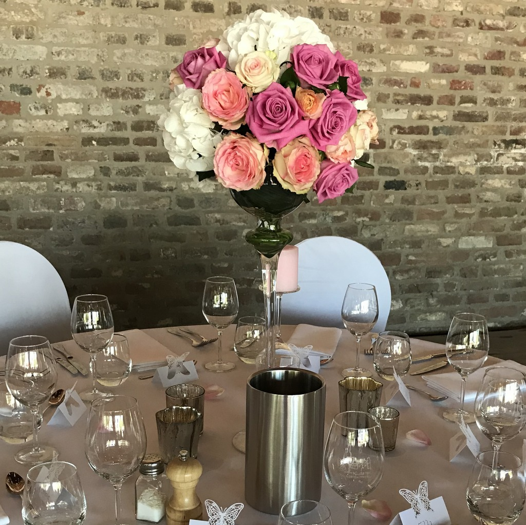 Blumenparadies Hasselt Hochzeit Tischdeko