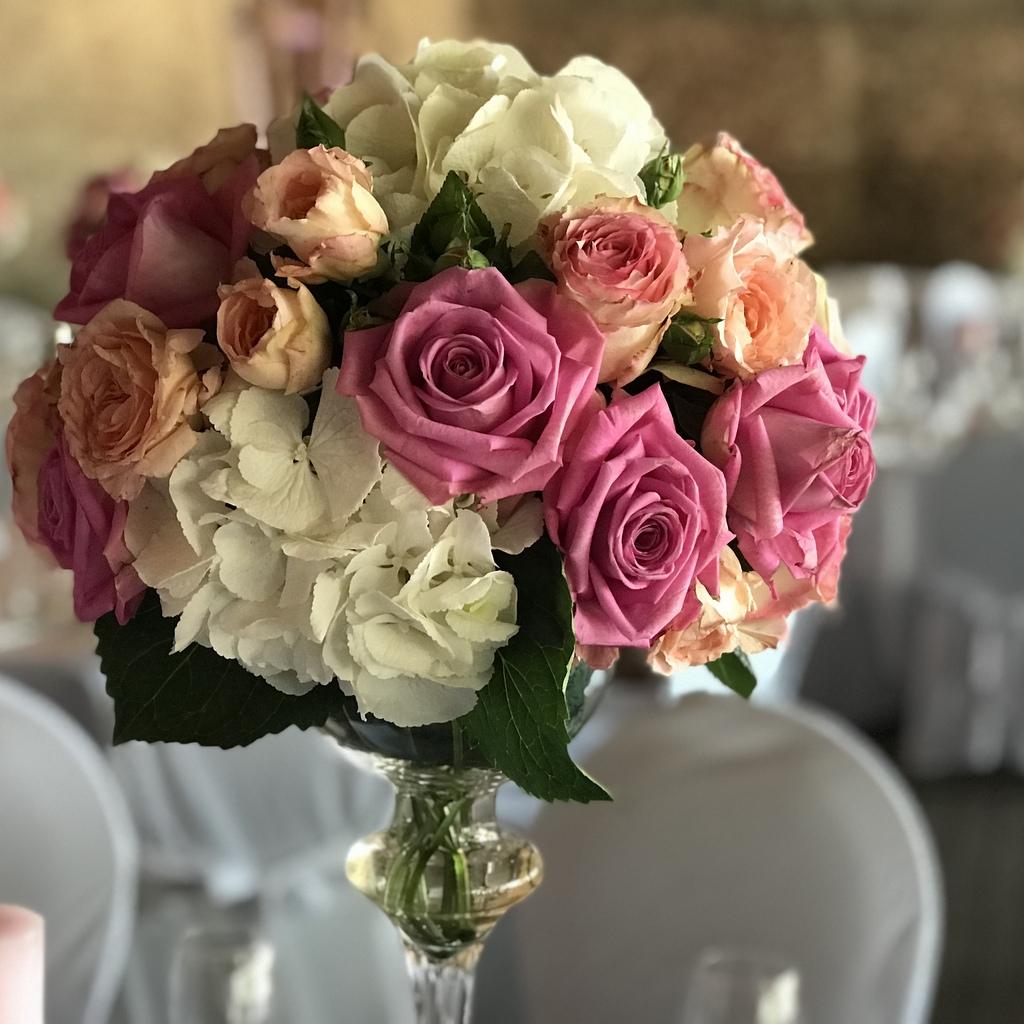 Blumenparadies Hasselt Hochzeit Tischstrauß