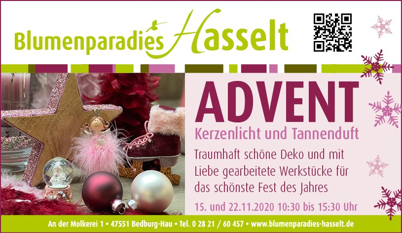 Advent Blumenparadies Hasselt